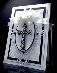 A Prayer, Wedding Day, Love, Religious, Cross, Crucifix, Christian, Card, Black and White, America, Sue Wilson, Creative Expressions, Caribbean Island Background, Finishing Touches, Ornamental Corners, America