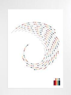 Spiral Calendar by Carlos Coelho, via Behance