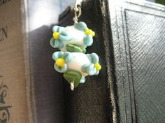Lampwork glass beaded bookmark    http://www.etsy.com/shop/ChrissieBeads