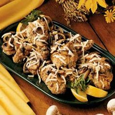 Mushroom Almond Chicken Recipe -I created this recipe over years of preparing meals for hunting camps out in the backcountry. Out there, I'd cook it in a Dutch oven over a fire. It satisfies even the biggest eaters, and it's easy to double or triple the recipe.