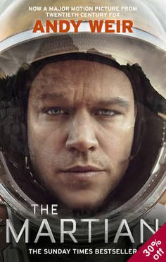 "The Martian Online HD. The Martian is a 2015 American science fiction ""comedy""-drama film directed by Ridley Scott and starring Matt Damon. The film is based on Andy Weir's 2011 novel The Martian, which was adapted into a screenplay by Drew Goddard. Matt Damon, The Martian Book, The Martian Andy Weir, Martian Watch, Mark Watney, Book Club Books, Books To Read, Film Books, Book 1"