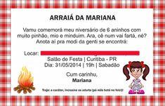 Convite festa junina modelo