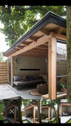 Easy Backyard, Outdoor Garden Rooms, Outside Living, Backyard Decor, Backyard Bar, Garden Buildings, Backyard Landscaping Designs, Pool Houses, Garden Lodge