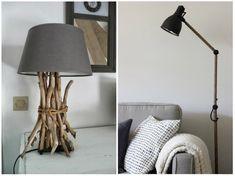 Décorez une lampe avec des matériaux à portée de main. Utilisez par exemple des bouts de bois pour décorer une lampe ou une corde avec un lampadaire.