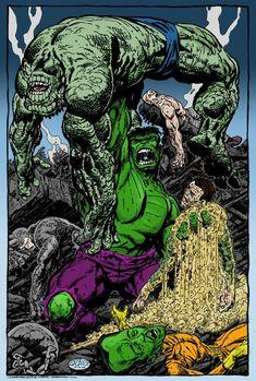 Hulk Wins by RogerOtt on DeviantArt Marvel Comic Character, Marvel Comic Books, Comic Book Heroes, Marvel Characters, Comic Books Art, Comic Art, Marvel Comics Superheroes, Hulk Marvel, Marvel Art
