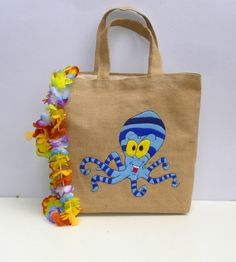 Chic  Jute summer Tote bag by Apopsis on Etsy,
