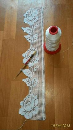 Com - Diy Crafts - hadido Spiral Crochet, Crochet Lace Edging, Crochet Borders, Crochet Flower Patterns, Crochet Squares, Thread Crochet, Crochet Trim, Crochet Designs, Crochet Doilies