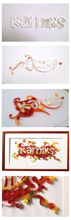 Quilled Name Plate ~ Karniks on Behance