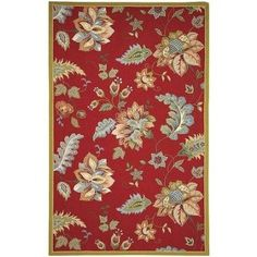 Define an area in your living room or master suite with this hand-hooked wool rug, featuring cotton backing and an eye-catching floral motif. Floral Area Rugs, Floral Rug, Floral Motif, Country Rugs, Country Decor, Hand Hooked Rugs, Transitional Rugs, Red Rugs, Joss And Main
