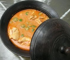 A famous West African soup is groundnut (also known as peanut or peanut butter) soup.