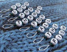 Hitchhiker's Guide Stitch Marker Set by Knit O Ramaa