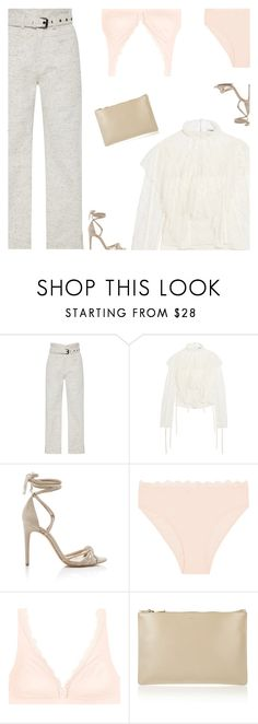 """""""Untitled #4992"""" by amberelb ❤ liked on Polyvore featuring Isabel Marant, Loewe, Alexandre Birman, Hanro and Jil Sander"""