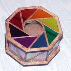 Octogonal stained glass box