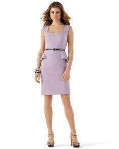 Love the peplum and color! Our Chic Lilac Sheath - White House | Black Market