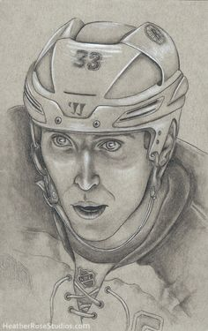 Zdeno Chara. Boston Bruins hockey portrait by Heather Rose.