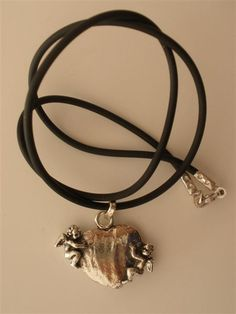 Giovanni Raspini Charms & Co Silver Heart with 2 Angels + Cord