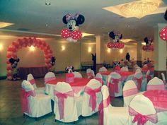 #nanisetc Minnie Mouse balloon decorations