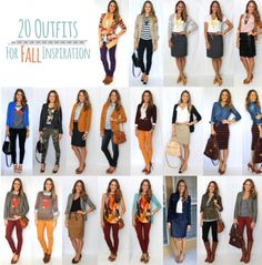 20 Fall Outfits! I love all of these outfits, and the best part is that she reuses the same items; functional, everyday pieces!
