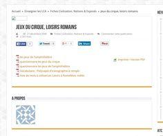 Jeux du cirque, loisirs romains ; cours, fiches et PDF à télécharger   Arrête ton char