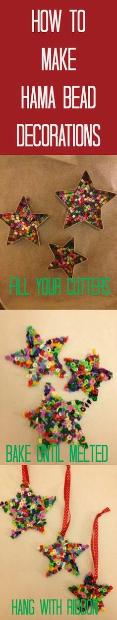Christmas Decorations with Hama beads #Christmas #crafts
