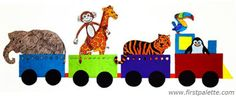Create a train for your favorite paper animals. This is a perfect craft to make before or after a visit to the zoo. It can also be used as a fun and exciting way to introduce animal and habitat facts.