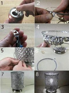 40 Clever and Creative DIY Recycle Lampshades Ideas design DIY interiors Lampshades Recycle 681310249858548949 Soda Tab Crafts, Can Tab Crafts, Aluminum Can Crafts, Metal Crafts, Recycled Crafts, Recycled Wood, Tape Crafts, Diy Crafts, Recycler Diy
