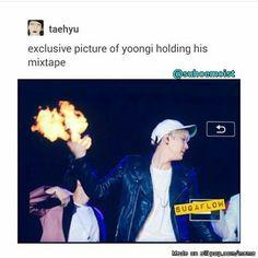 Yoongi mixtape memes actually kill me lmfao Bts Suga, Bts Bangtan Boy, Bts Memes, K Pop, Jung Kook Bts, Meme Center, About Bts, Bulletproof Boy Scouts, Rap Monster