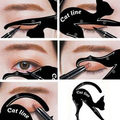 Beauty Essentials Glazzi Double-headed Seal Eyeliner Pencils Black Wing Shape Eye Liner Stamp Pen 2-in-1 Waterproof Eyes Make Tool Maquiagem Bringing More Convenience To The People In Their Daily Life Beauty & Health