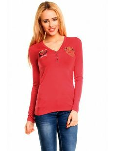 Red Bridge blusa bordados | red
