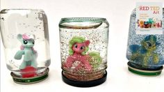 """my little pony snow globe how to - a great way to use up """"doubles"""" from suprise bags"""