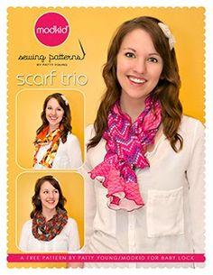 Scarf trio free pattern from MODKID