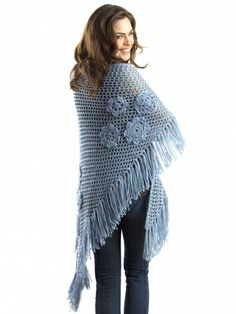Summer Flowers Shawl | Yarn | Free Knitting Patterns | Crochet Patterns | Yarnspirations