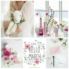 Pink, mood/color collage Hello March! Hello Spring #byJeetje♡