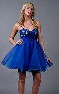 short blue prom dresses