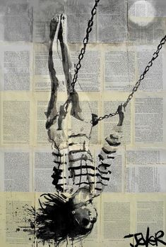 "Saatchi Online Artist: Loui Jover; Ink 2013 Drawing ""flight"" 