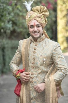 Check 141 sensational Indian wedding dresses for men that you can wear on your wedding day. Here you can know that how groom wear can be in so many styles in india. Sherwani For Men Wedding, Wedding Dresses Men Indian, Wedding Dress Men, Wedding Men, Wedding Suits, Punjabi Wedding, Indian Weddings, Farm Wedding, Wedding Couples