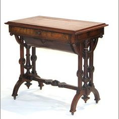 A Victorian Renaissance Revival mahogany side table mid 19th century