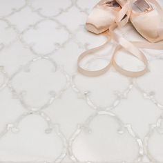 Shop for Highland Marrakesh White Thassos With Shell Line Marble and Glass Tile at TileBar.com