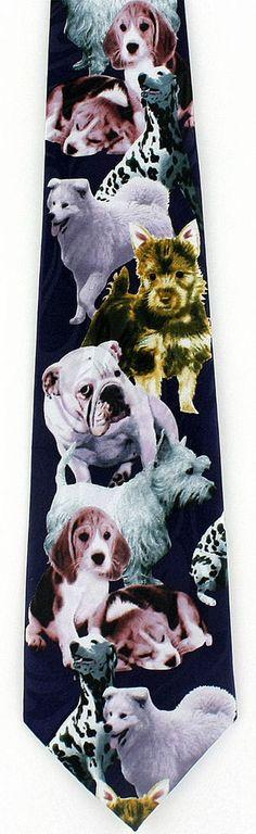 Classic Tie Samoyeds Dog Christmas Boy Casual School Necktie Bowtie