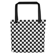2c5d4073dca5 Black Checkerboard Pattern Tote bag by CoolFunAwesomeTime on Etsy  etsy   printful  bag