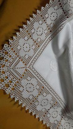 Crochet Tablecloth, Crochet Doilies, Crochet Flowers, Hand Crochet, Crochet Lace, Free Crochet, Crochet Borders, Crochet Patterns, Diy Crafts Crochet