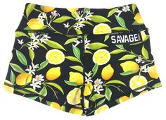 5c788e0657 Booty Shorts - Lemon Drop - Black