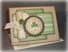 St. Patrick's Day cards made from cricut | St. Patrick's Day -- Shamrock -- Handmade Greeting Card