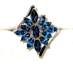 LONDON BLUE TOPAZ cocktail Ring 2.65ctw  size 8    http://stores.ebay.com/JEWELRY-AND-GIFTS-BY-ALICE-AND-ANN