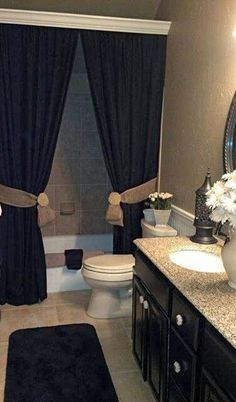 Love the moulding hiding the curtain rod!! And color