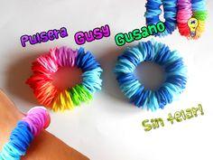 PULSERA GUSY GUSANO DE GOMITAS (Sin telar!)