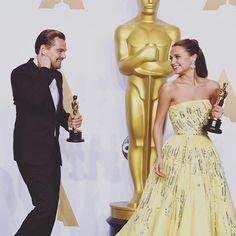 Alicia and Leo! #AliciaVikander #LeonardoDiCaprio #OSCARS