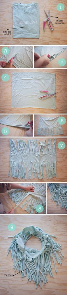 reuse old t-shirt. I'm so gonna do this!!