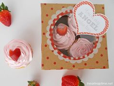 Angel Food Cupcake Valentines by Love, Pomegranate House featured on iheartnaptime.net!