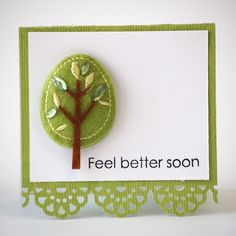 NL Tree Puffies Border Punch Mini Card